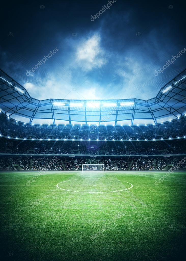 Soccer stadium background — Stock Photo © efks #98862368