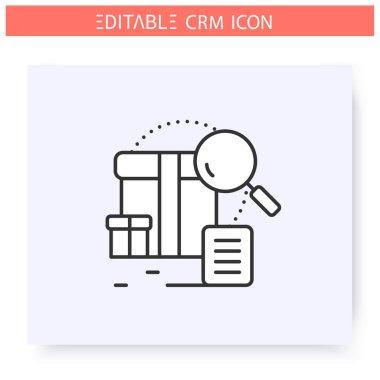 Sales intelligence icon. Editable illustration