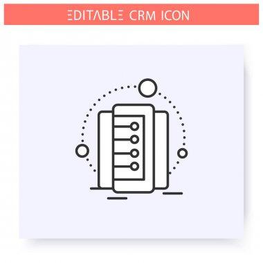 Data storage line icon. Editable illustration
