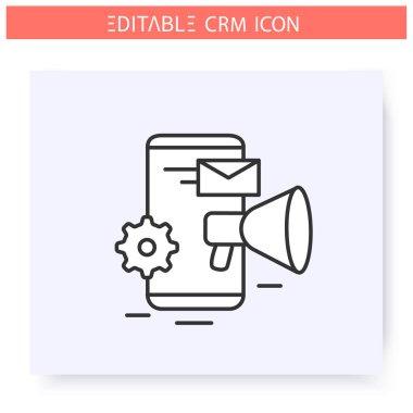 Marketing automation line icon. Editable