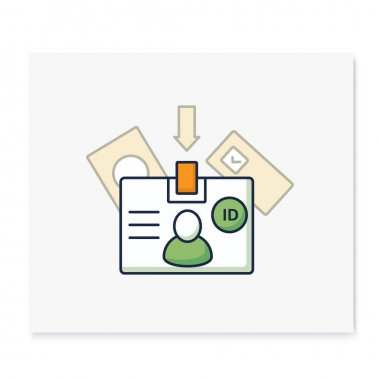 Voter id color icon