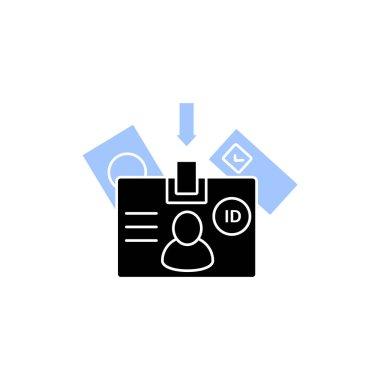 Voter id glyph icon