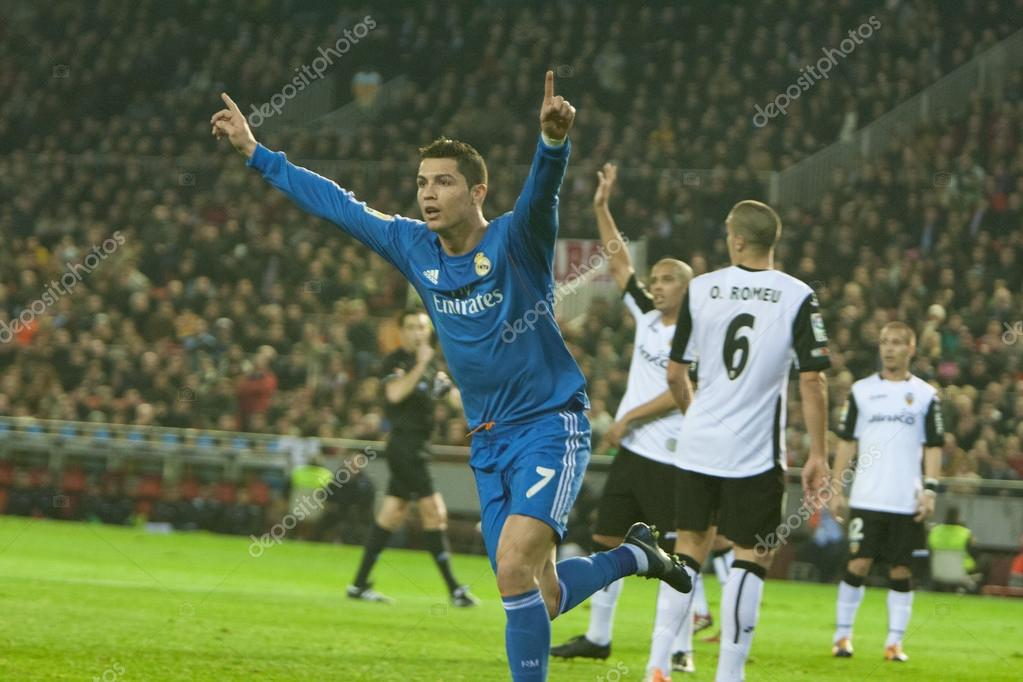 Cristiano Ronaldo of Real Madrid celebrates after scoring