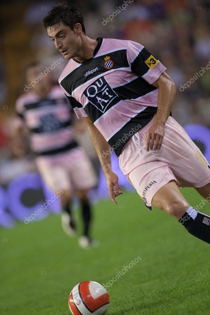 Albert Riera From Espanyol In Action Stock Editorial Photo
