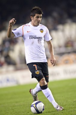 David Villa in action