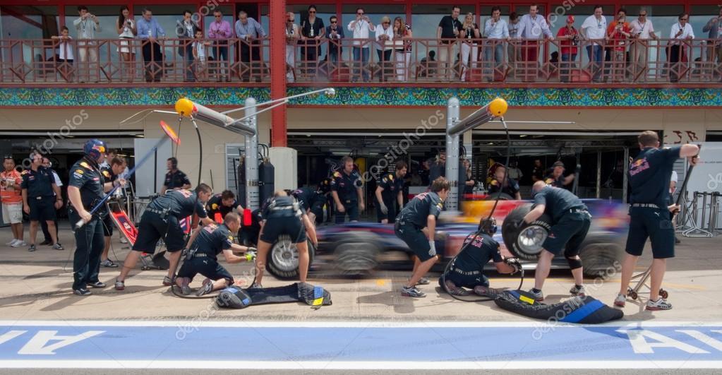 Red Bull Team during European Grand Prix Formula 1