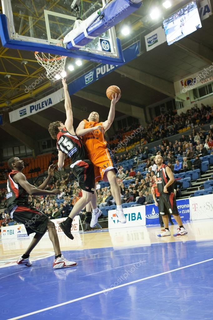 Eurocup Game Valencia Basket Against Sluc Nancy Basket Stock