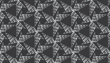 Stained-glass seamless pattern with triangles
