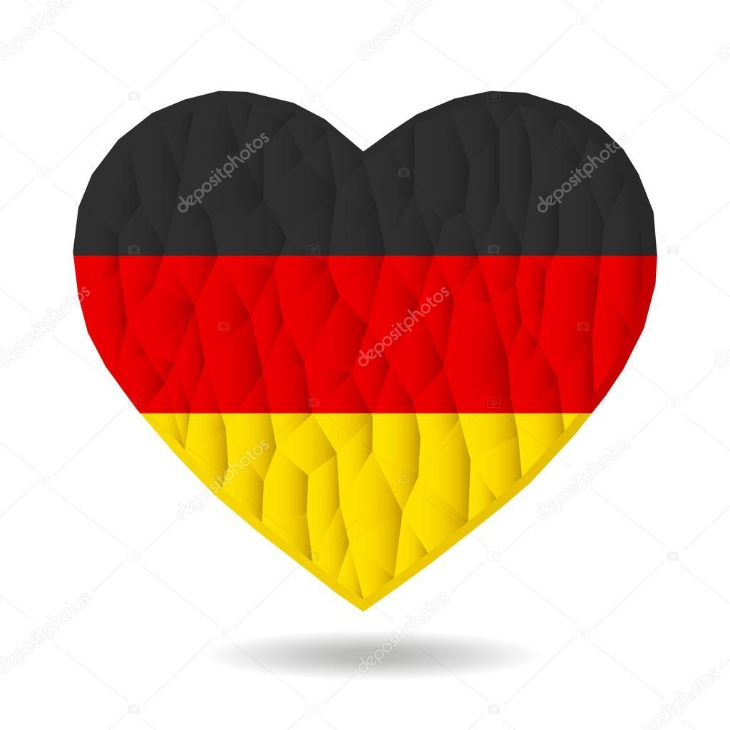 Vektor deutschland flagge herz liebe ist ein symbol f r - Bandiera della pagina di colorazione della germania ...