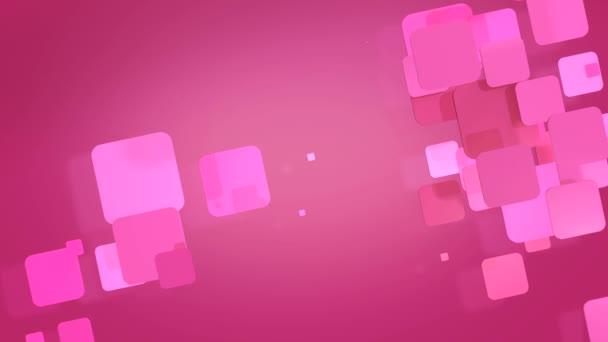Růžové obdélníkové tvary blikající