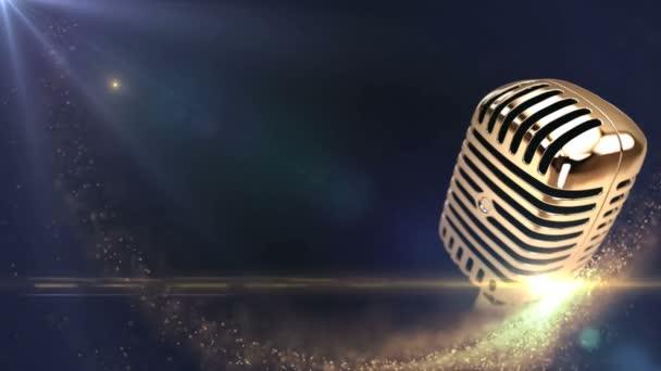 Vintage arany mikrofon