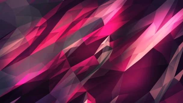 Animazione di sfondo cristallino triangolare