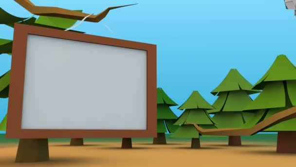 Animation of TV wall with owl fly in.