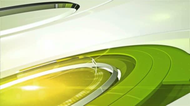 zelený točité jeviště navrhuje úvodní intro