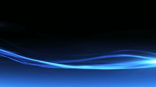kék füst hullámok mozog a levegőben