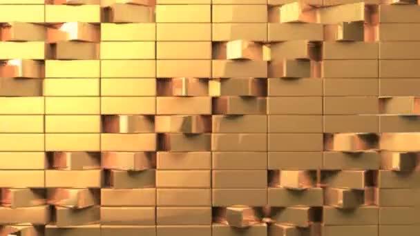 Parete Doro : Ampia parete di mattoni di dinamica triangolo doro u2014 video stock