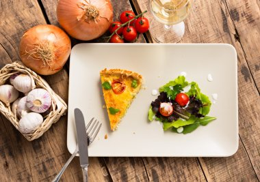 Slice of quiche lorraine - french kitchen