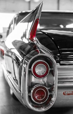 rear lights of a vintage American car