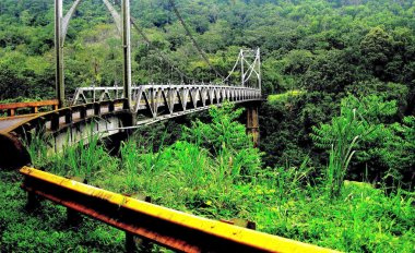 Metal bridge on the way to Volcano Arenal and La Fortuna, Costa Rica.