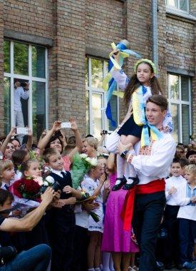 September 1 2015 in Ukrainian school.