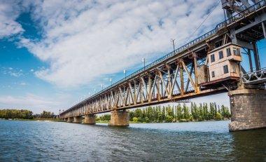 The ancient bridge in Eastern Europe