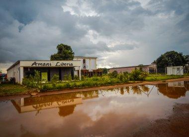 Roadside cafe in Liberia. West Africa