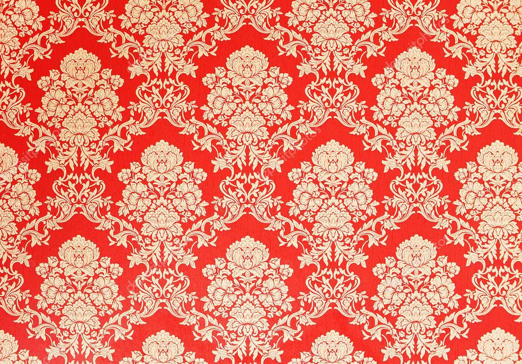 baroque wallpaper red with golden rose design stock photo madorf 58725169. Black Bedroom Furniture Sets. Home Design Ideas