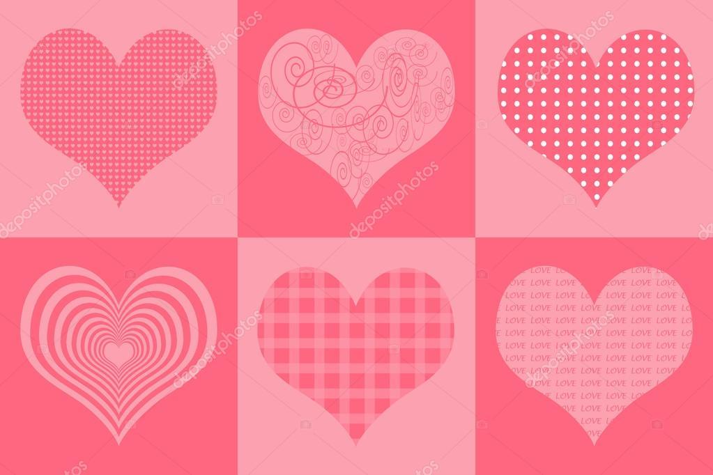 illustration for valentine and wedding card background pink retro
