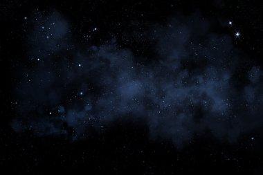 """Картина, постер, плакат, фотообои """"звездное ночное небо со звездами и туманностью"""", артикул 64411041"""