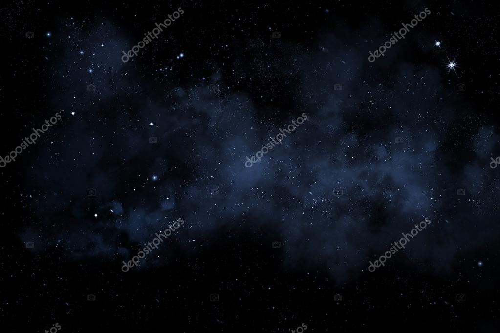 Starry night sky with stars and nebula