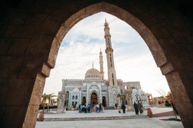 Sharm el Sheikh, Egypt, March 2016: Islamic Center mosque. View