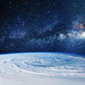 Planeta Země mraky. Některé prvky tohoto obrazu, které Na
