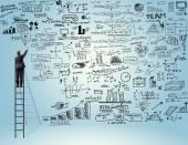 Skici psaní podnikatel