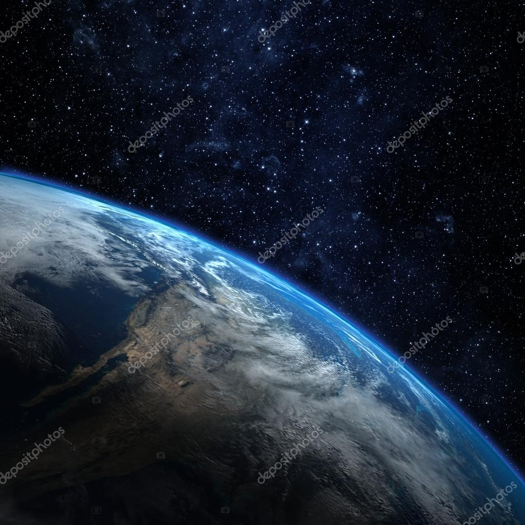 Planet earth from the space. Some elements of this image furnish