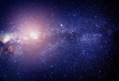 blurred image of pink stars in the galaxy. Some elements of this