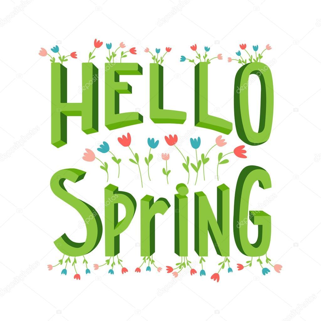 Cartoon Spring Lettering Stock Vector Petitelili 104371718