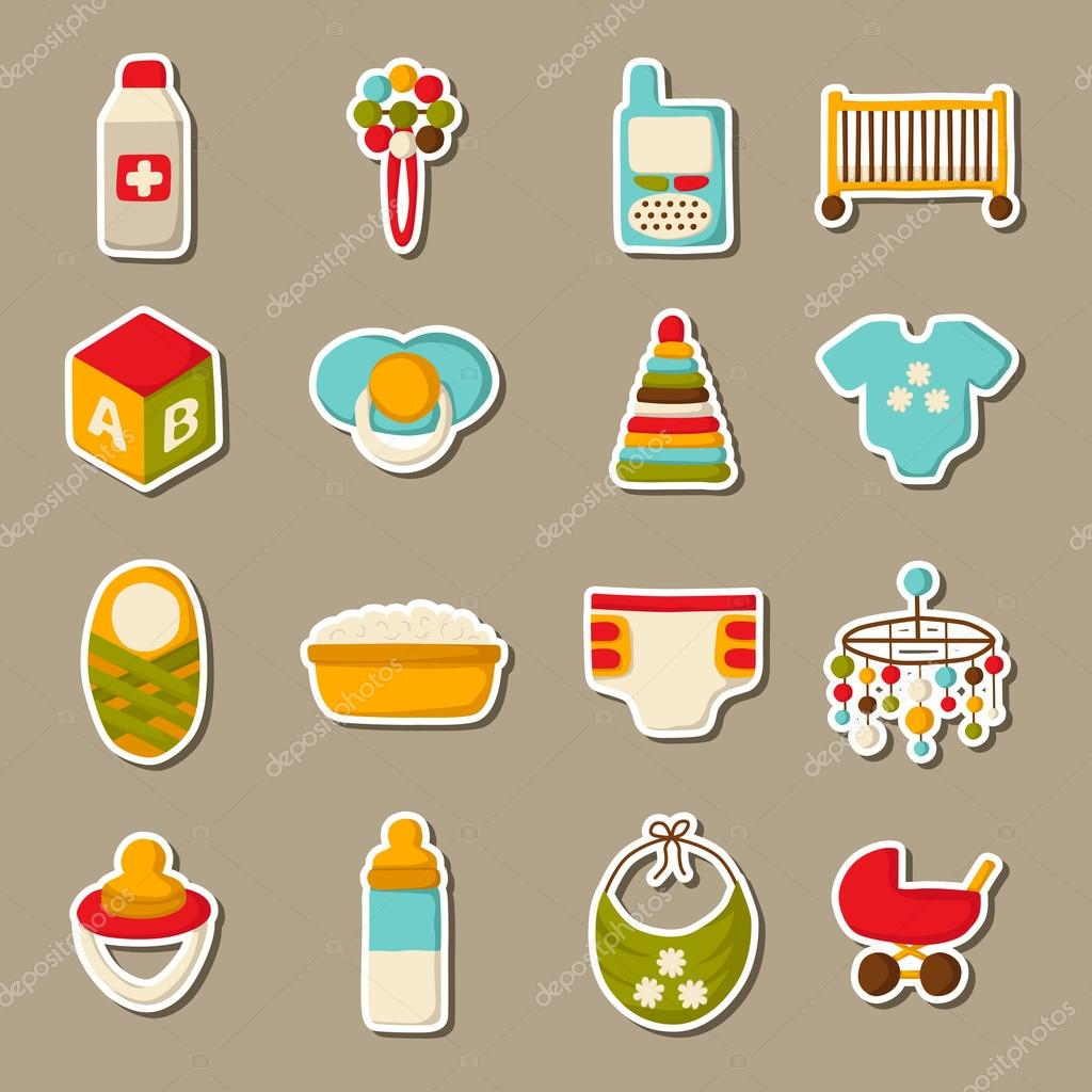 Cartoon baby care stickers
