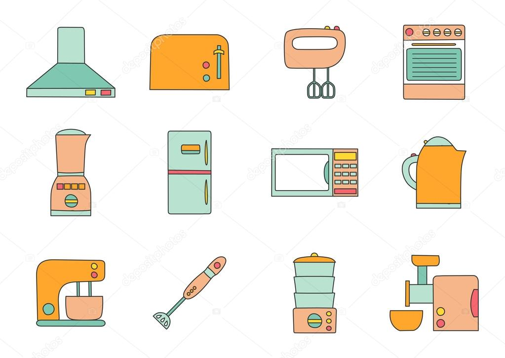 Vector Kitchen Appliances Icon Stock Vector C Petitelili