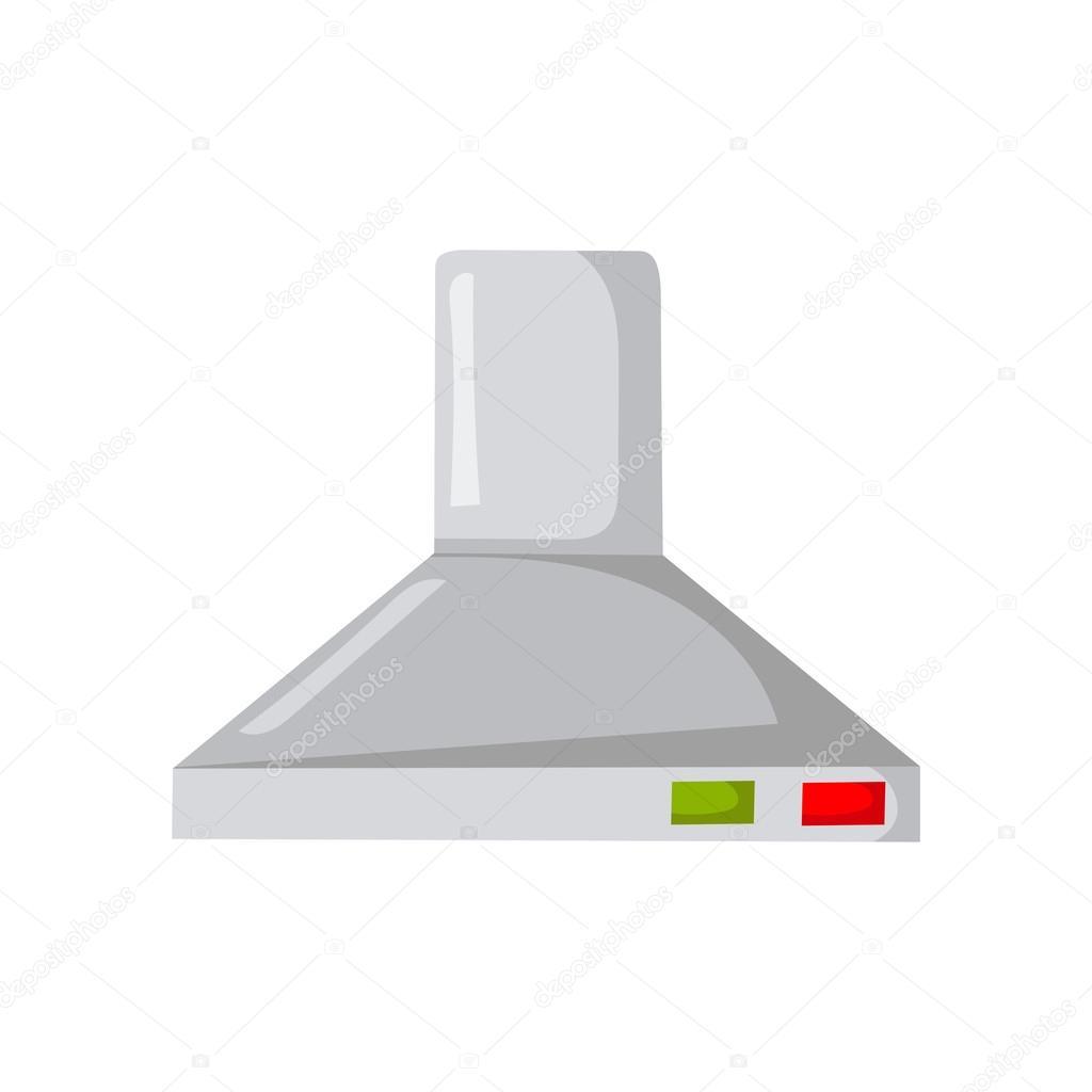 Vector de dibujos animados cocina campana extractora — Vector de ...