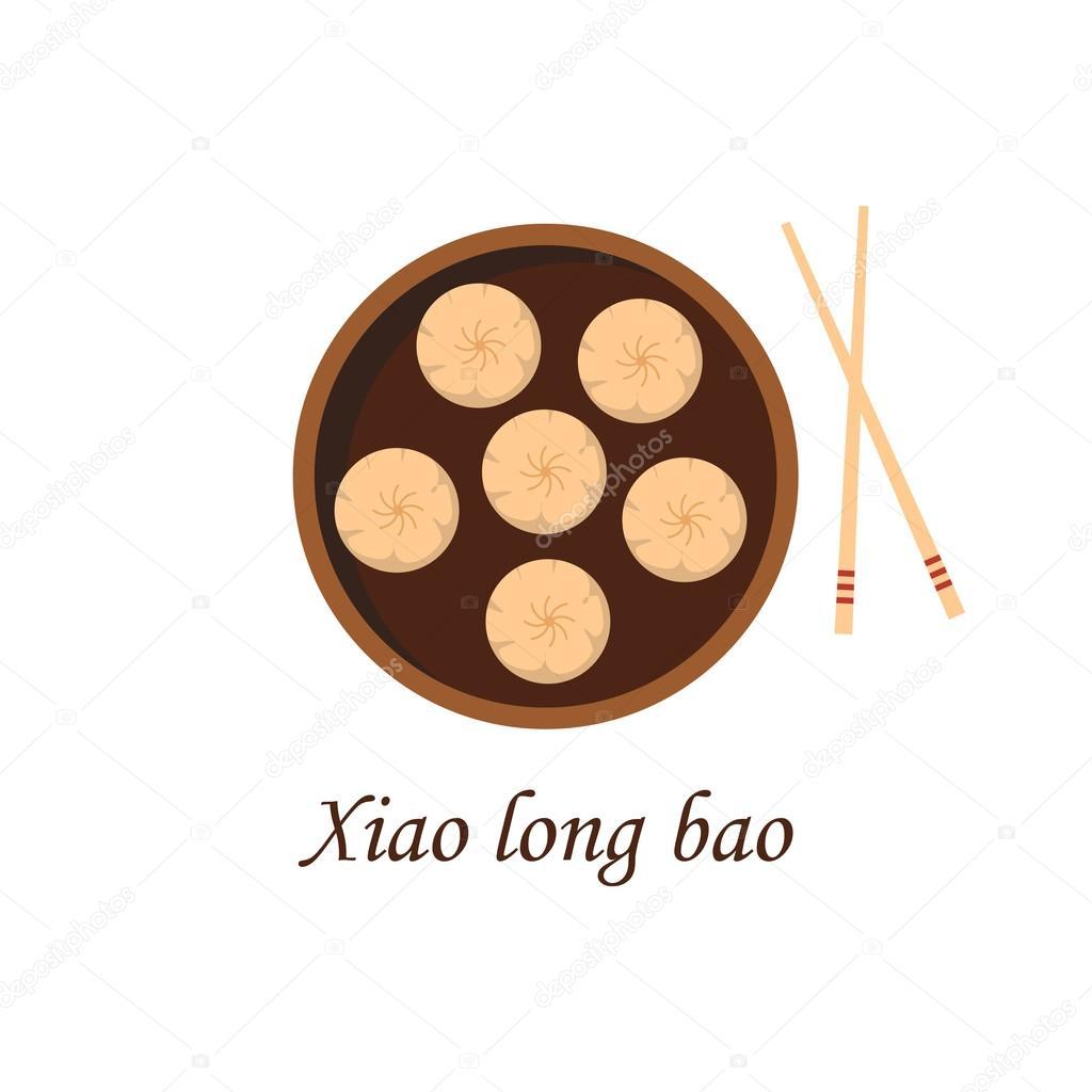 Vector Cartoon chinesische traditionelle Mahlzeit — Stockvektor ...