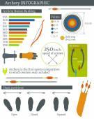 Vektorové ilustrace s lukostřelba infographic