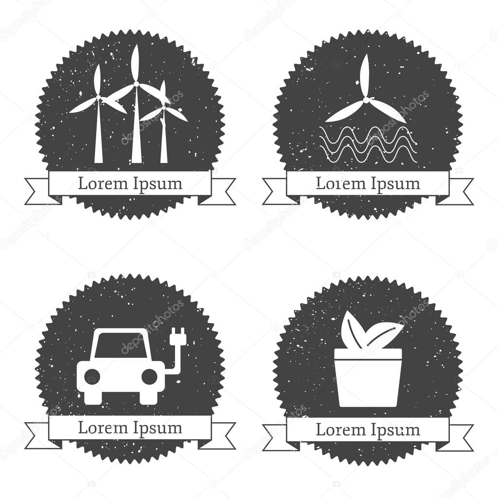 Templates for renewable energy logos or emblems