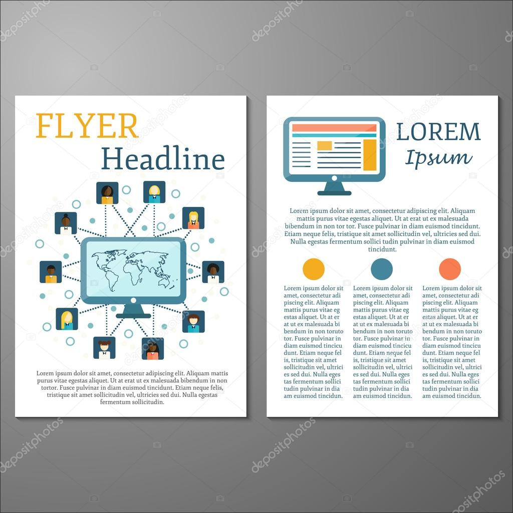 Vorlage für Flyer oder Broschüren zum Thema soziales Netzwerk ...