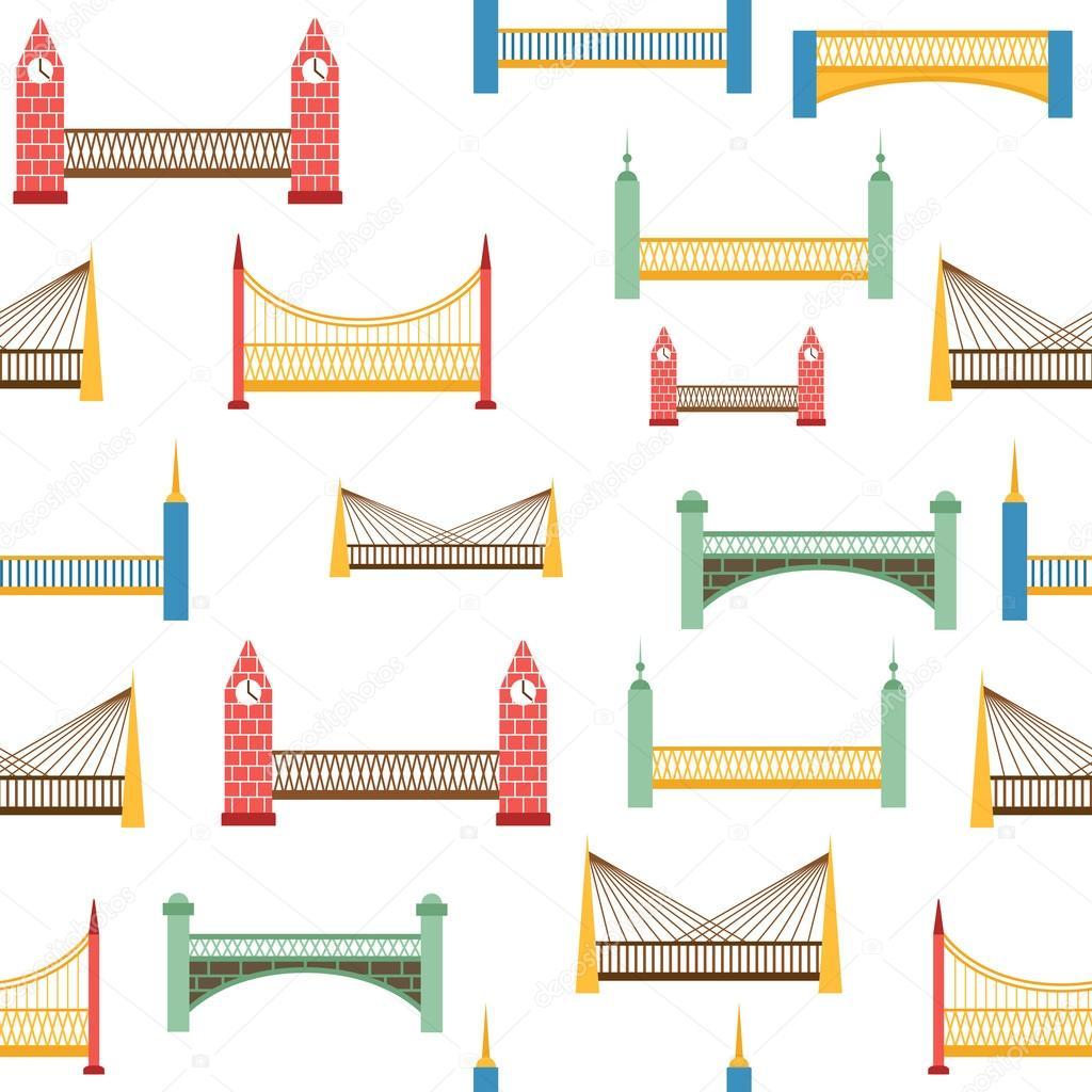 Fondo transparente con colores modernos puentes — Vector de stock ...