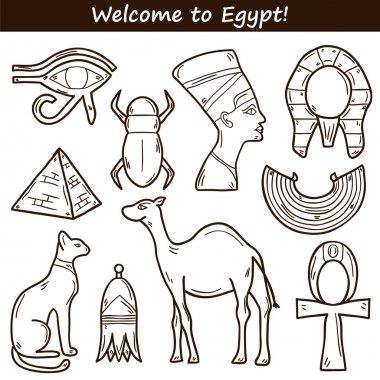 Hand drawn Egypt icons