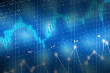 Stock market candlestick chart