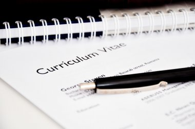 Curriculum vitae or resume concept