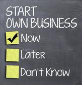 Zahájit vlastní podnikání dnes Kvízová otázka