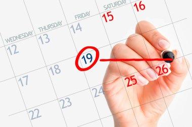 Important date on calendar
