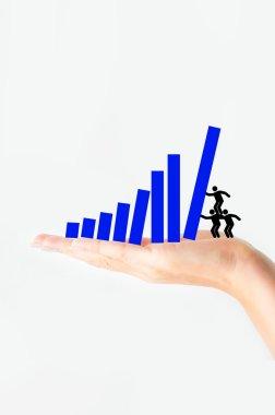 Team effort to increase sales concept